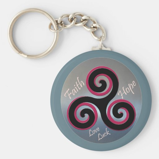 Celtic Knot Faith Hope Key Chains