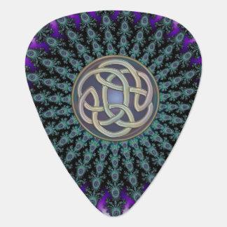Celtic Knot Fractal Mandala Guitar Pick