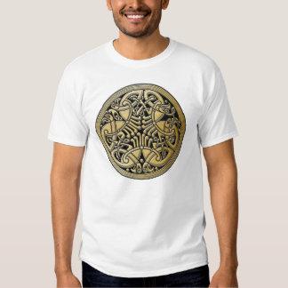 Celtic Knot Gold Birds & Black -Men's T-Shirt