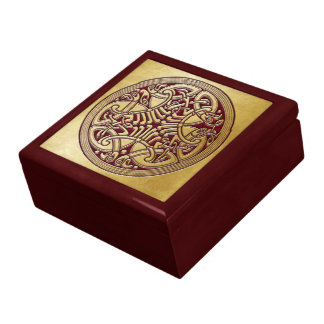 Celtic Knot Gold Birds & Red -Gift Box