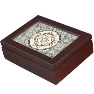 Celtic Knot Graphic Pattern in Cream and Black Keepsake Box