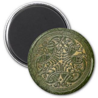 Celtic Knot Green Birds & Gold-Fridge Magnet