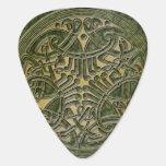 Celtic Knot Green & Gold Birds -Guitar Pic Guitar Pick