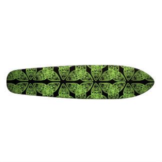 Celtic Knot Green Old School Skateboard Deck