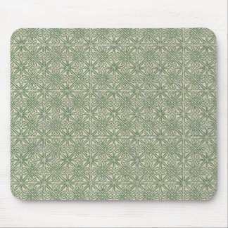 Celtic Knot Green Pattern Mouse Pad