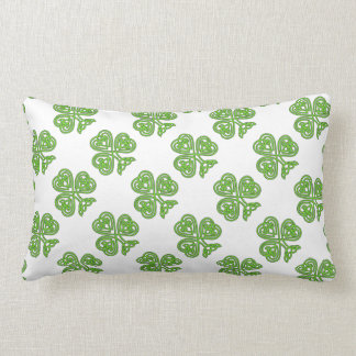 Celtic Knot Green Shamrock Pillow
