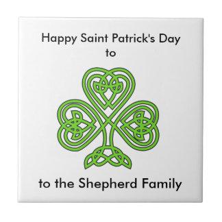 Celtic Knot Green Shamrock Tiles