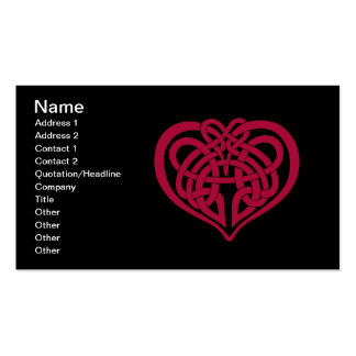 Celtic Knot heart Business Cards