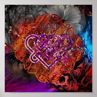 Celtic Knot heart By Nathan Robert Simonson Poster