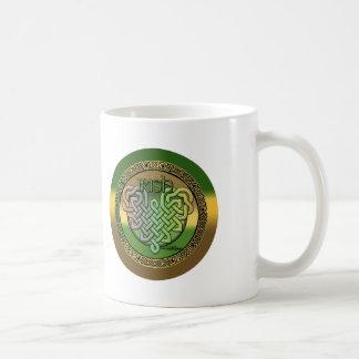 Celtic knot heart mug