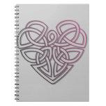 Celtic knot heart notebook