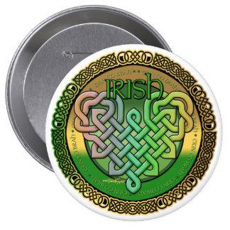 Celtic knot heart sticker button