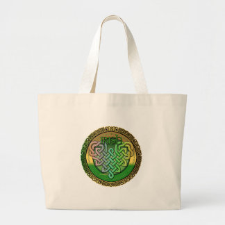 Celtic knot heart sticker canvas bags