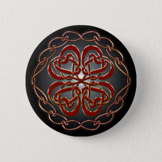 Celtic knot Hearts Button