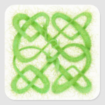 Celtic Knot I - Square Stickers