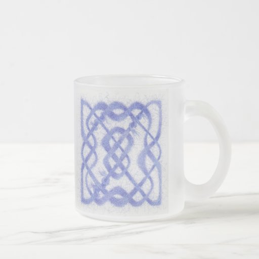 Celtic Knot III - Frosted Glass Mug