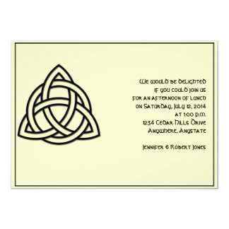 Celtic Knot in Black and Mythic Ivory Party Card