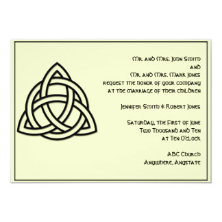 Celtic Knot in Black and Mythic Ivory Wedding Card
