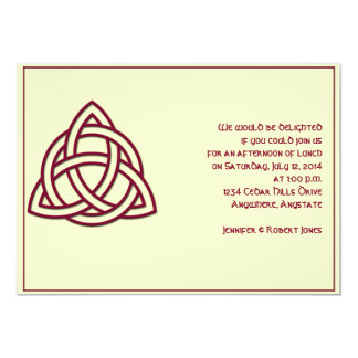 Celtic Knot in Burgandy and Mythic Ivory Party Card