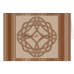Celtic Knot in Cream and Rust Thank You Cards