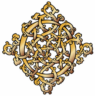 Celtic Knot in Gold - Ornament Sculpture