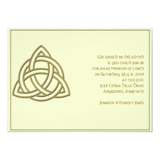 Celtic Knot in Harvest Gold and Mythic Ivory Party Card