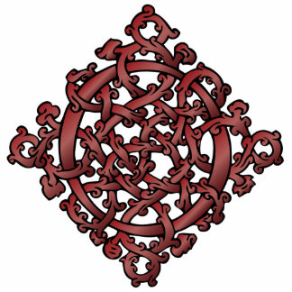 Celtic Knot in Red - Ornament Sculpture