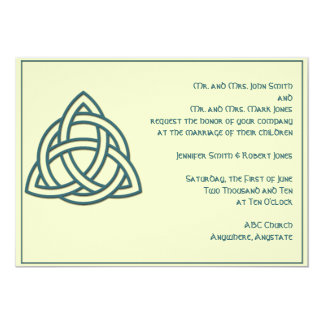 Celtic Knot in Teal and Mythic Ivory Card