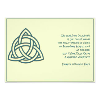 Celtic Knot in Teal and Mythic Ivory Party Card