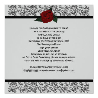 Celtic Knot Infinity Rose Goth Wedding Card