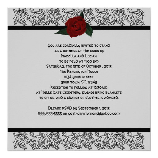 Celtic Knot Infinity Rose Goth Wedding 5.25x5.25 Square