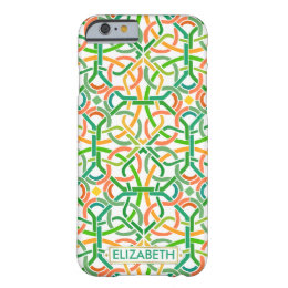 Celtic Knot Irish Braid Basketweave Modern Custom Barely There iPhone 6 Case