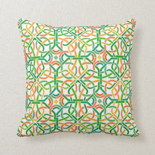 Celtic Knot Irish Braid Pattern Colorful Stencil