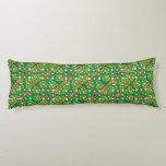 Celtic Knot Irish Braid Pattern Green Pretty Body Pillow