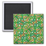 Celtic Knot Irish Braid Pattern Green Pretty Magnet