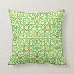 Celtic Knot Irish Braid Pattern Green Stencil Throw Pillow