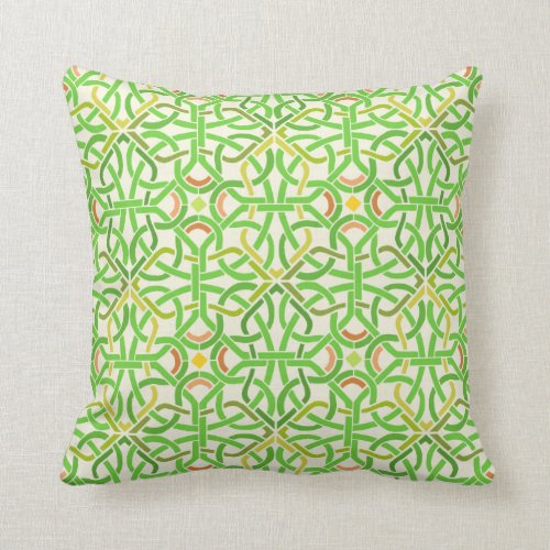 Celtic Knot Irish Braid Pattern Green Stencil