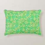 Celtic Knot Irish Braid Pattern Green Yellow Decorative Pillow