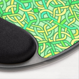 Celtic Knot Irish Braid Pattern Green Yellow Gel Mouse Pad