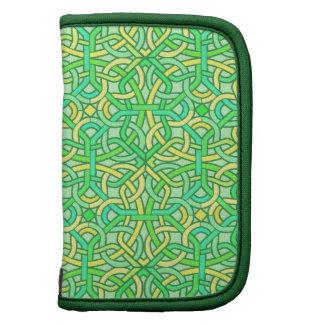 Celtic Knot Irish Braid Pattern Green Yellow Planner