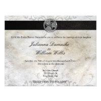 Celtic Knot Irish Gaelic Wedding Invitation