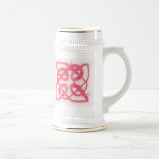 Celtic Knot IV- White and Gold Stein