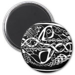 Celtic Knot Kangaroo Black and White Magnet