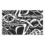 Celtic Knot Kangaroo Black and White Rectangular Sticker