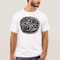 Celtic Knot Kangaroo Black and White T-Shirt