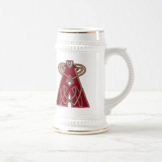Celtic Knot letter initial monogram A Beer Stein