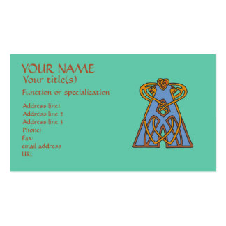 Celtic Knot letter initial monogram A Business Card