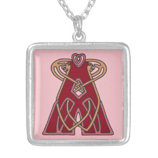 Celtic Knot letter initial monogram A Jewelry