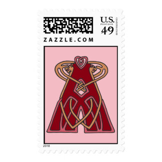 Celtic Knot letter initial monogram A Postage Stamps