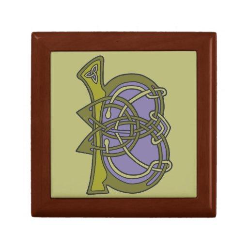 Celtic Knot letter initial monogram B Trinket Boxes